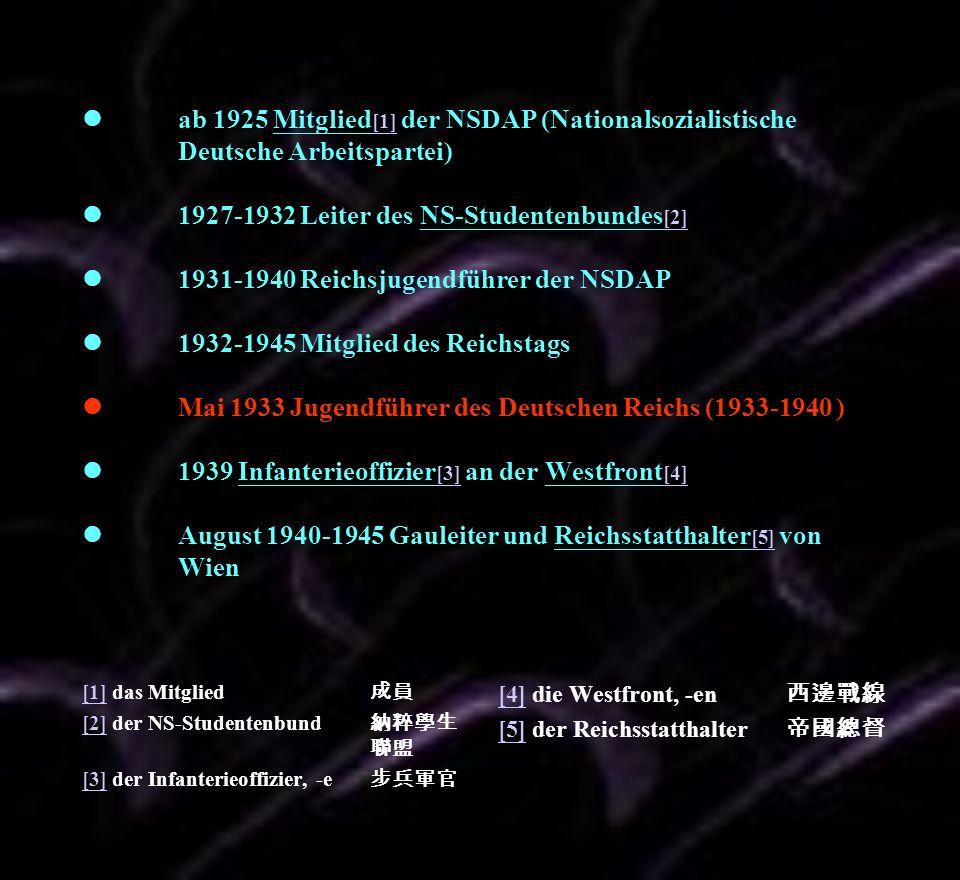 l. ab 1925 Mitglied[1] der NSDAP (Nationalsozialistische